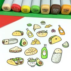 "17.5k Likes, 72 Comments - ⭐️KiraKiraDoodles (@kirakiradoodles) on Instagram: ""It's taco-time!  • • • #kawaii #tacos #taco #burrito #avocado #doodle #guacamole #mexicanfood…"""