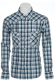 Browse Cavender's online selection of men's fashion shirts. We carry the most popular western brands and styles at the prices you like. Rodeo Outfits, Western Outfits, Sharp Dressed Man, Well Dressed Men, Short Kurta For Men, Rock And Roll Fashion, Formal Shirts For Men, Rock Roll, Work Shirts