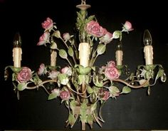 chandelier table lamp lighting crystal craft decoration shabby chic paris