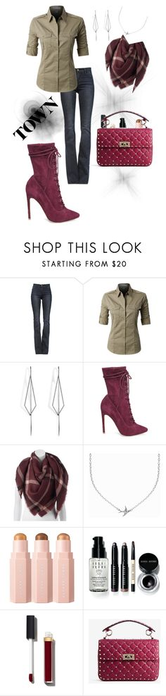 """""""Down town"""" by peach-princess ❤ liked on Polyvore featuring Frame, LE3NO, Diane Kordas, Steve Madden, LC Lauren Conrad, Minnie Grace, Bobbi Brown Cosmetics, Chanel and Valentino"""