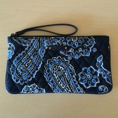 Vera Bradley Wristlet NWOT - This fun, paisley wristlet can be taken anywhere.  Inside there are compartments for credit card and phone.  A good size for when you are on the go. Vera Bradley Bags Clutches & Wristlets