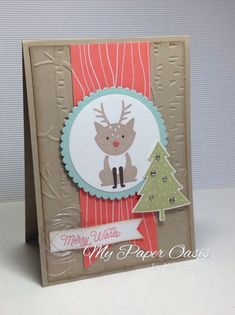 A Foxy Friends bundle Christmas reindeer by My Paper Oasis, stampin Up products…
