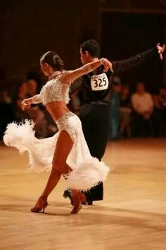 White latin competition dress