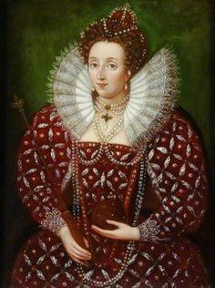 Portrait of Queen Elizabeth I, daughter of Henry VIII and Anne Boleyn by unknown artist Elizabeth I, Elizabeth Bathory, Princess Elizabeth, Elizabethan Costume, Elizabethan Era, Elizabethan Fashion, Anne Boleyn, Tudor History, British History