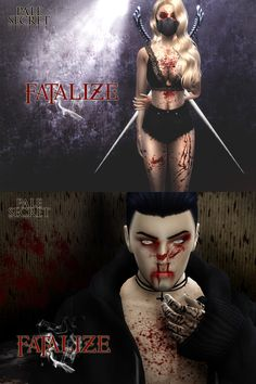 Sims 4 CC's – The Best: Bloody Makeup Set by Pralinesims – About Face Makeup The Sims, Sims Cc, Sims 4 Cc Eyes, Sims 4 Cc Skin, Sims 4 Nails, Sims 4 Tattoos, Sims 4 Piercings, Sims Stories, Sims Games