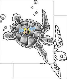 Turtle Tattoo reptiles-and-amphibians-reptile-tattoos-grumpy-guf-00149