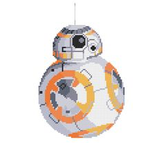 You can get ALL 6 of our Star Wars Cross Stitch Patterns for only $15! http://etsy.me/29WRMHY -or-  GET ANY 4 PATTERNS FOR ONLY $10! http://etsy.me/29OL8lM    This is an adorable cross-stitch pattern of BB-8 from Star Wars: The Force Awakens. This is a PATTERN ONLY not a finished product and comes in the form of a PDF download. Thread: 9 DMC Threads  Size: 8.57 in. x 5 in. / 21.7 cm x 12.7  Grid Size: 120 x 70  Canvas: Aida 14-count cloth    This pattern com...