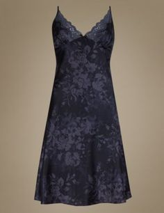 Marks and Spencer Nightwear Clothes, Shoes & Accessories Nightwear, Satin, Formal Dresses, Purple, Lingerie Sets, Floral, Shopping, Clothes, Collection