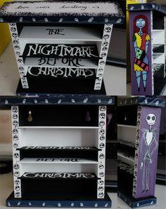 Nightmare Before Xmas Shelves by IchLiebeTiny.deviantart.com on @deviantART
