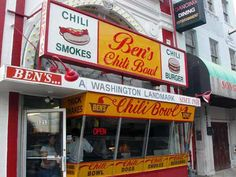 Ben's Chilly Bowl, Washington DC. Home of the best chilli dogs!