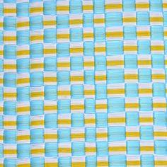 Moyenne natte africaine plastique damier bleu jaune blanc