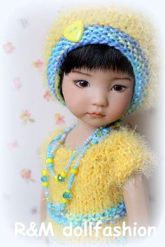 R&M DOLLFASHION CUTE LINE OOAK handknit set for Effner Little Darling 13