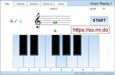 This concentration type music game will help you to improve your skills in reading musical notes, hearing the right tune and will also boost your ability of concentration. Reading Music, Reading Games, Replay, Notes Online, Music Software, Music Games, Online Games, Improve Yourself, Musicals