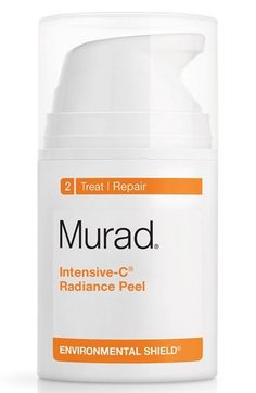 Murad® Intensive-C® Radiance Peel available at #Nordstrom // It goes on easy (I have never felt any burning/stinging/discomfort) and then after 10 minutes, you wipe it off. And honestly, I think it does a pretty good job of getting my skin nice and exfoliated! My face is never red when I remove it (like it is when I get a peel at the dermatologist office). It just feels nice and fresh.