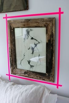 thumbs neon tape frame interior design modern bold colors 11 Get Your Tape On!