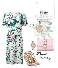 """""""Floral Beauty."""" by natalisanabelle on Polyvore featuring Burberry, Valentino and MICHAEL Michael Kors"""