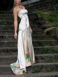 Boho Bridal Gown Wedding DressSilk Wedding Gown by WaiChingBridal