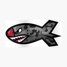 'Bape Shark Bomb Torpedo' Sticker by sanseffort Graffiti Canvas Art, Graffiti Lettering, Skateboard Logo, Motorcycle Helmet Design, Bape Shark, Full Sleeve Tattoo Design, Shark Logo, Shark Art, Line Work Tattoo