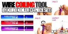 Hey, remember that Kuro Koiler Wire Coiling Tool we told you about a few weeks ago. The same tool that makes building coils easy peezy. Electronic Cigarette, Vape, 3 Piece, Good Things, Tools, Smoke, Instruments, Vaping, Electronic Cigarettes