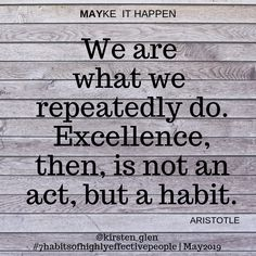 Inner Resources added a new photo. Excellence Is A Habit, Seek First To Understand, Seven Habits, Highly Effective People, Job Seekers, Mindfulness, Shit Happens