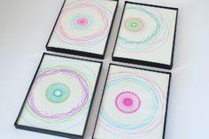 Simple, Modern Spirograph Art (tutorial). Easy wall art! #art #spirograph #crafts