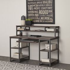 Home Styles Barnside Metro Pedestal Desk and Hutch | Overstock.com Shopping - The Best Deals on Desks