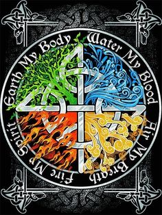 The Four Elements Celtic Symbols, Celtic Art, Wicca Witchcraft, Neue Tattoos, Celtic Designs, Book Of Shadows, Mystic, Witches, Paganism