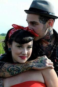 Rockabilly couple♥