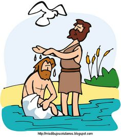 Baptism of Jesus Colouring in Jesus Crafts, Bible Crafts, Jesus Cartoon, Jesus Is Alive, Bible Stories For Kids, Bear Tattoos, Bible Pictures, Religious Education, School Pictures