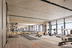 Concord King's Landing in Toronto, ON Gym Interior, Interior Design, Gym Architecture, Gym Center, Hotel Gym, Home Gym Design, Gym Room, Toronto, Workplace Design