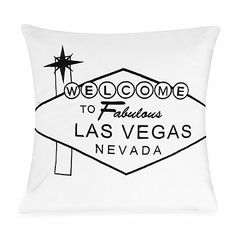 Passport 18-Inch Square Postcard Toss Pillow in Las Vegas - BedBathandBeyond.com