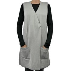 Colete e Vestido de tricô na cor cinza da marca Coleteria ♡ - Coletes femininos e infantis - Coleteria | sempre♡