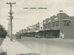 Como Parade, Parkdale, 1955 Melbourne Suburbs, Historic Houses, Melbourne Victoria, Historical Photos, Old Photos, 1950s, Photographs, Street View, Memories