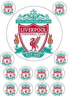 Liverpool football logo #edible cup cake topper icing or #wafer birthday #party, View more on the LINK: http://www.zeppy.io/product/gb/2/172040926871/