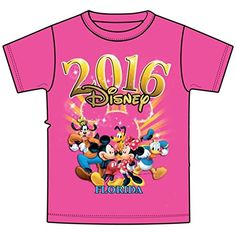 Disney Adult 2016 Dated Good Times Goofy Mickey Minnie Pluto Donald Cyber Pink  Large *** Details can be found by clicking on the image.
