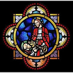Stained Glass Window: Anointing the Sick - onction des malades