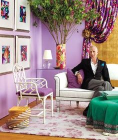 Marvelous Jamie Drake · Curtain RoomPurple WallsInterior Design ...