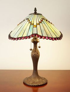 Tiffany-style / Glass Mission Table Lamp