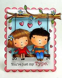 Just My Type by Elizabeth Allan's Art Studio, via Flickr.  Additional card details available at:  http://elizabethallan-blog.blogspot.com/2013/01/just-my-type.html