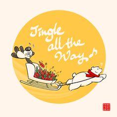 'Resuena todo el camino' by Panda And Polar Bear Chibi Cat, Kawaii Illustration, Jingle All The Way, No Way, Polar Bear, Bunny, Snoopy, Panda Bears, Mocha