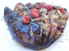 Leque de Berinjela http://www.ondasdesabores.com.br/2012/02/leque-de-berinjela.html#.UkwbHtLql9A
