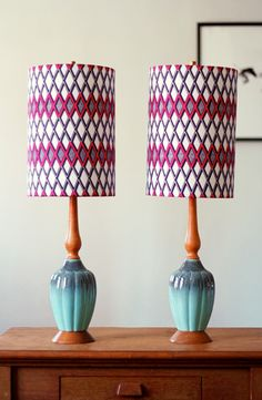 How to cover lampshades with fabric - How About Orange