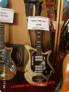 Eko 700 4V from 1960 for sale. Trace of use in original acceptable condition, tuners are changed. Will ship from Greece.