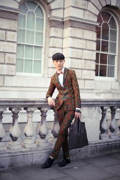 London fashion at the Somerset House #StreetStyle