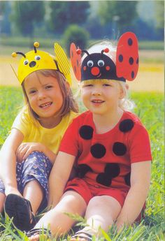 Crafts,Actvities and Worksheets for Preschool,Toddler and Kindergarten. Headband Crafts, Hat Crafts, Toddler Crafts, Preschool Activities, Crafts For Kids, Insect Crafts, Ladybug Crafts, Hat Day, Spring Hats