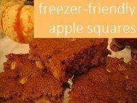Freezer-Friendly Apple Squares