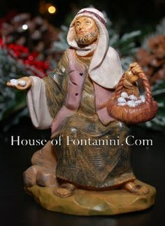 """5"""" Scale Ezra, Farmer with Eggs - House of Fontanini® - The Internets Most Complete Fontanini® Gift Store"""