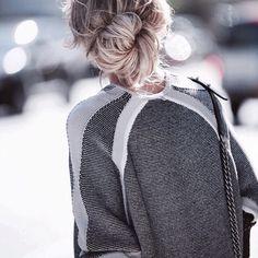 BUCKET | Sweater fashion Messy bun