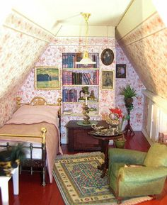 miniature bedroom by Eifel Minis