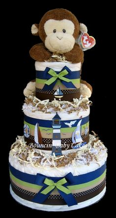 sailboat & monkey baby shower -
